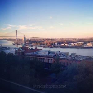 sunset bridge view from savannah hotel - blog
